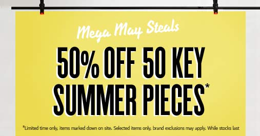 ASOS | 50% off 50 key summer pieces