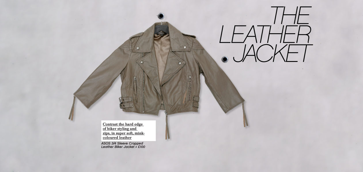 The Leather Jacket :  moto jack asos kate moss mink