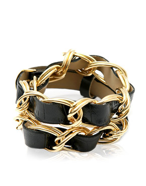 Nicole Richie | Double Wrap Around Cuff at ASOS :  charm chain asos bracelet