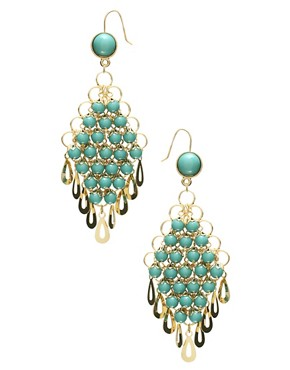 ASOS | ASOS Vintage Multi Bead Drop Earring at ASOS :  asos turquoise earrings earrings jewelry
