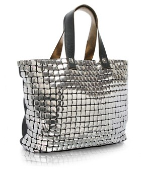 Ted Baker | Ted Baker Leather Metallic Studded Shopper at ASOS :  braced studded designs new