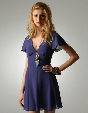 Flower Button Tea Dress