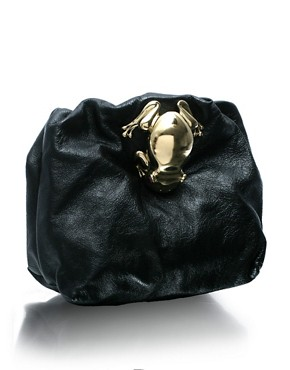 Marc Jacobs | Marc Jacobs Leather Mini Bag With Clasp at ASOS :  hangbag satchel square great design