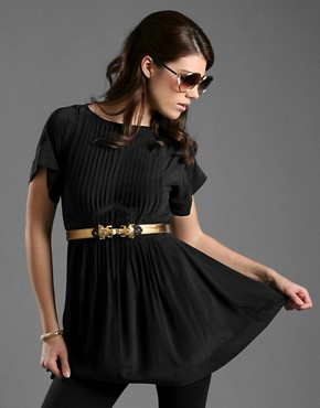 American Retro | American Retro Pleat Front Silk Dress at ASOS :  luxe clothing women soft
