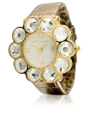 Betsey Johnson | Betsey Johnson Large Crystal Watch at ASOS :  large asos at watch