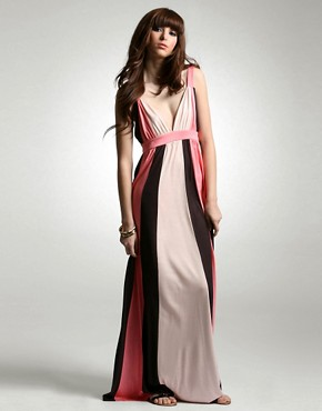 French Connection | French Connection Colour Block Maxi Dress at ASOS :  fashion design designer dress