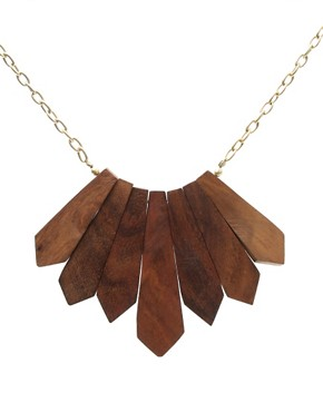 ASOS | Short Wood Detail Necklace at ASOS :  fashion accessory design fashion accessories jewelry