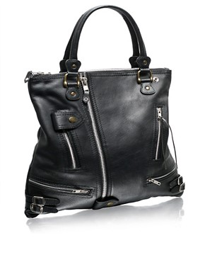 Angel Jackson | Angel Jackson Leather Biker Bag at ASOS :  jackson satchel square great design