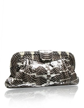 Angel Jackson | Angel Jackson Leather Chandra Snake Clutch at ASOS :  fashion accessory design fashion accessories designer