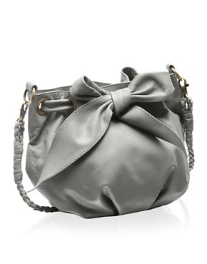 ASOS Leather Drawstring Across-Body Bag