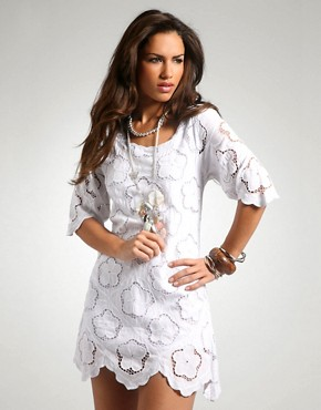 Cutwork Flower Dress at ASOS
