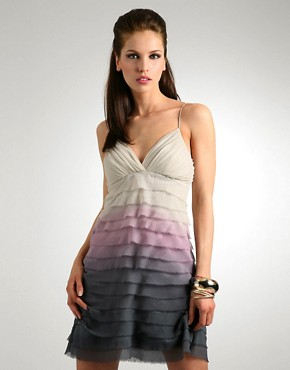 Lipsy | Lipsy Dip Dye Silk Ruffle Layer Halter Dress at ASOS :  modern spring summer 08 dip dye spring 2008