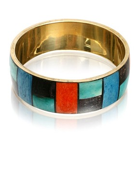 ASOS | Multi Colour Square Section Bangle at ASOS :  fashion accessory bracelets design fashion accessories
