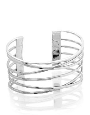 ASOS | ASOS Sterling Silver Multi Row Cuff at ASOS :  asos bracelet silver accessories