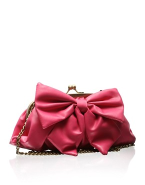 Pauls Boutique | Paul's Boutique Bow Clutch Bag at ASOS :  pink clutch women womens accessories