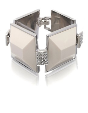 Karen Millen | Karen Millen Square Acrylic And Crystal Bracelet at ASOS :  karen asos bracelet acrylic