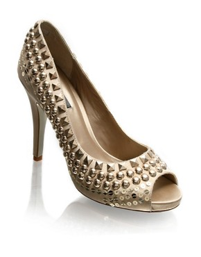 ASOS | ASOS LUXE Stud And Sequin Peep Toe Platform Shoes at ASOS
