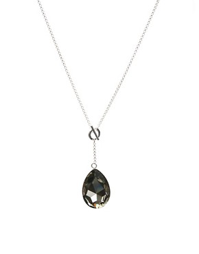 ASOS | ASOS Sterling Silver Large Cut Glass Tear Drop Pendant at ASOS :  drop tear pendant sterling