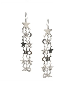 ASOS | ASOS Moon And Star Long Drop Earrings at ASOS :  star drop and moon