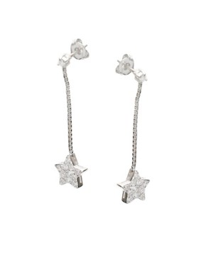 ASOS | ASOS Sterling Silver Star And Chain Drop Earring at ASOS :  star sterling silver at