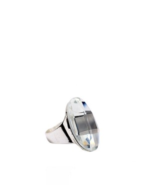 ASOS | ASOS Large Round Cut Glass Ring at ASOS :  glass large asos at