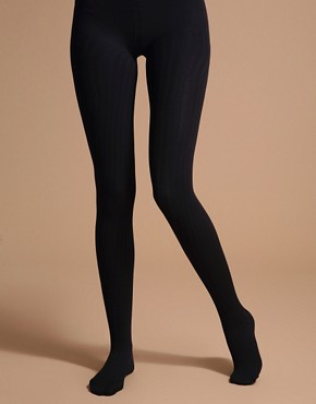French Connection | French Connection 85 Denier Vertical Stripe Tights at ASOS :  denier tights french vertical