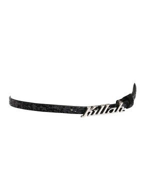 Killah | Killah Logo Buckle Skinny Hipster Belt at ASOS from asos.com