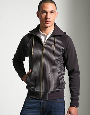 Fila | Fila Nazareth Striped Hooded Jacket at ASOS :  men mens jacket asos