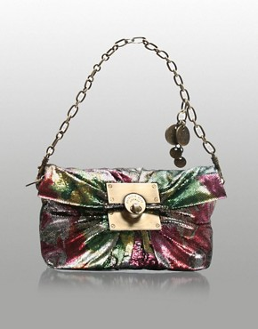 Patrizia Pepe | Patrizia Pepe Disco Lock Clasp Small Clutch at ASOS :  fashion accessory design fashion accessories designer