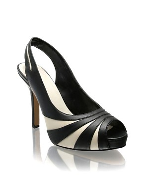 ASOS | ASOS Contrast Peep Toe Slingback Platform Shoes at ASOS :  high heels stiletto design sling-back