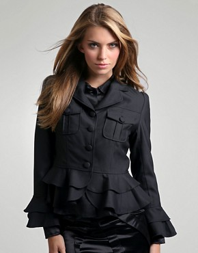 Tofu | Tofu Ruffle Frill Detail Jacket at ASOS :  clothing woman women tofu