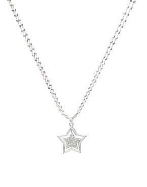 ASOS | ASOS Long Double Row Stone Encrusted Star Necklace at ASOS :  star long encrusted row