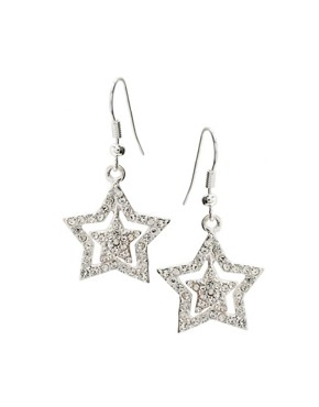ASOS | ASOS Stone Encrusted Double Star Drop Earring at ASOS :  star earring drop double