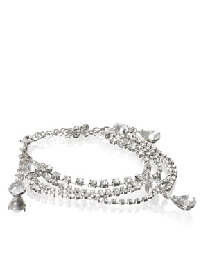 ASOS | ASOS Multi Row Set Crystal And Tear Drop Bracelet at ASOS :  drop crystal multi row