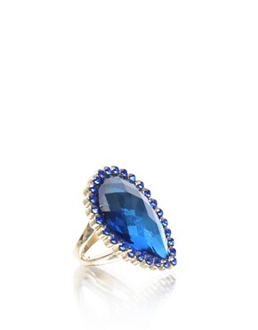 Eva Mendes | ASOS Tear Shape Stone Encrusted Ring at ASOS :  ring tear stone eva