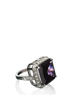 ASOS | ASOS Large Square Stone Ring With Encrusted Surround at ASOS :  stone square encrusted at