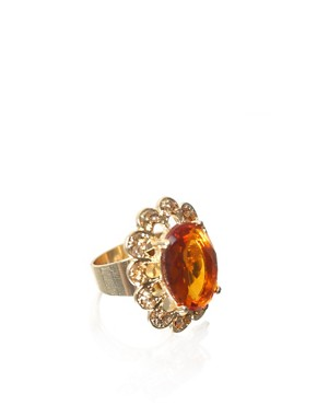 ASOS | ASOS Oval Stone Encrusted Surround Ring at ASOS :  asos surround oval at
