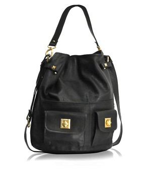 ASOS | ASOS Leather Pyramid Stud Duffle Bag at ASOS