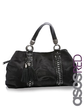 Just Cavalli | Just Cavalli Logo Chain Tote at ASOS :  chain logo asos tote