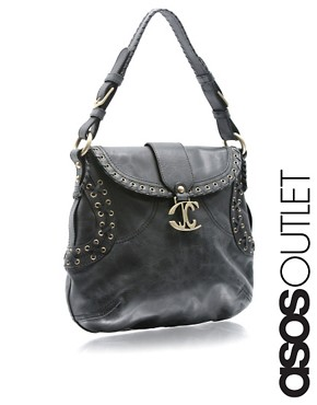 Just Cavalli | Just Cavalli Leather Stitch Bag at ASOS :  leather stitch asos at
