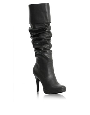 Eva Mendes | ASOS Fold-Over Platform Knee Boot at ASOS :  eva at asos fold