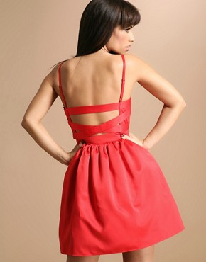 Lipsy | Lipsy Open Strap Back Cupped Prom Dress at ASOS :  cupped lipsy back open
