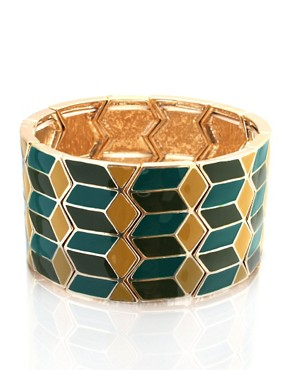 ASOS | ASOS Wide Enamel Stretch Bangle at ASOS :  bracelet enamel jewellery jewelry