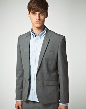 ASOS Tailoring Grey Pindot Jacket