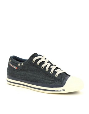 Image 1 of Diesel Exposure Lo Plimsolls :