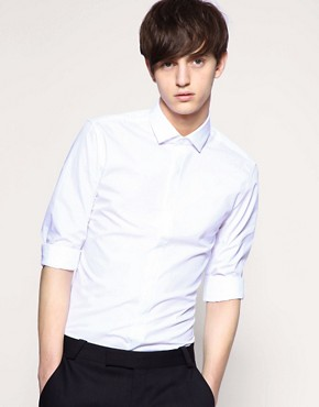 ASOS Tailoring Cut-Away Collar Slim Fit Shirt