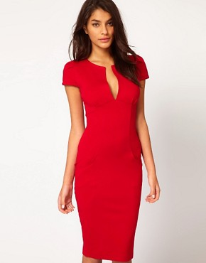 Victoria Beckham | ASOS Ponti-Roma Tailored Pencil Dress at ASOS