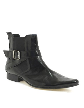 ASOS Patent Strap Chelsea Boots