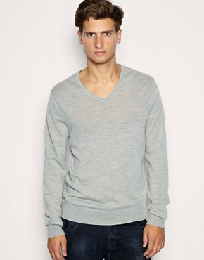 ASOS Merino V-Neck Jumper