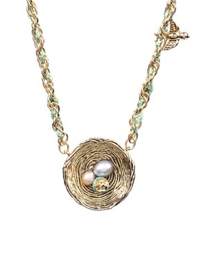 Disney Couture | Disney Couture Tinkerbell Nest Necklace at ASOS :  jewelry accessories necklace asos